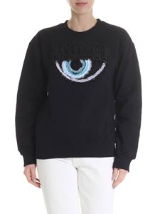 Chiara Ferragni - Eye crewneck sweatshirt in black