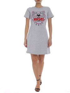 Kenzo - Melange grey Tiger cotton dress