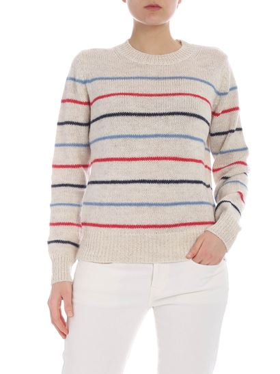 201bec5875 Isabel Marant Étoile Spring Summer 2019 beige striped gian sweater ...