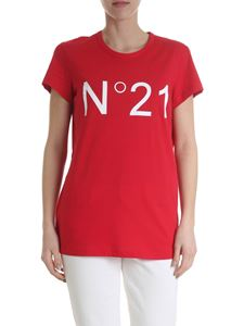 N° 21 - Red T-shirt with N21 print