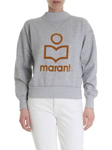 Isabel Marant Étoile - Moby sweatshirt in grey with flock print