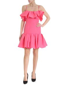 MSGM - Pink short dress with off-shoulders