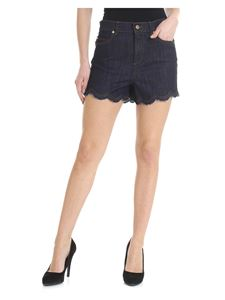 Red Valentino - Blue shorts with scallop detail
