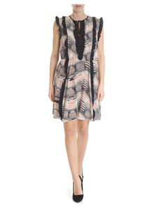 Red Valentino - Pink and black dress with Lune Fluttuanti print