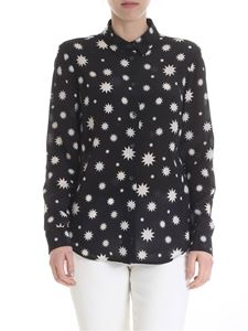 Red Valentino - Black shirt with Red Valentino stars print