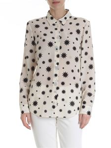 Red Valentino - Cream-colored shirt with Red Valentino stars print