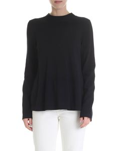 Red Valentino - Black sweater with tulle insert