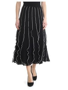 Red Valentino - Black skirt with ruffles