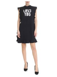 Red Valentino - Love You dress in black crepe