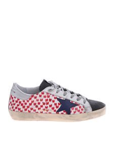 Golden Goose - Sneakers Superstar in white and red