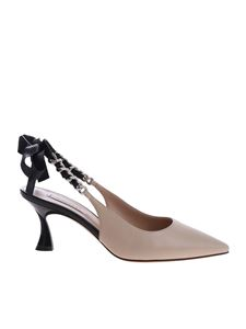 Casadei - K Blade Kelly pointy pumps in beige and black