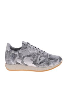 Philippe Model - Monaco L sneakers in silver camouflage