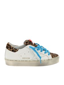 Golden Goose Deluxe Brand - White and animalier Hi Star sneakers