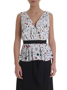 Elisabetta Franchi - White top with flowers print