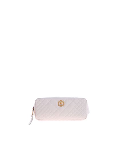 Versace - White quilted motif waistbag