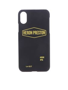 Heron Preston - Black cover for iPhone X with yellow print