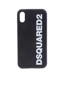 Dsquared2 - Black cover with logo for iPhone X