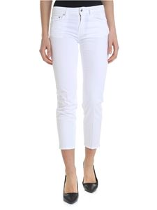 Dondup - Newdia white trousers