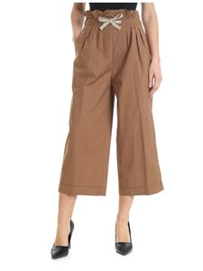 Dondup - Iole trousers in khaki color