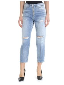 Dondup - Koons light blue destroyed jeans