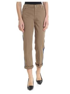 Dondup - Paige trousers in khaki color