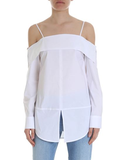 32f626ffb4c Dondup Spring Summer 2019 white off shoulder top - DC045 PS0013D XXX 000