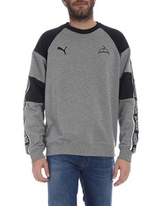 Puma - Gray crewneck cotton sweatshirt