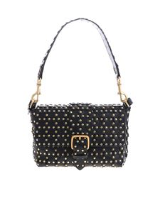 Red Valentino - Flower Puzzle black shoulder bag