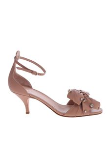 Red Valentino - Flow Rose antique rose sandals
