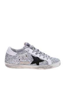 Golden Goose Deluxe Brand - Sneakers Superstar argentate glitterate