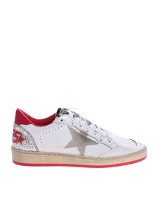 Golden Goose Deluxe Brand - White Ball Star sneakers with red details