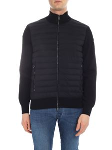 Moncler - Moncler cardigan in black with quilted insert