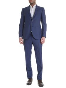 Brando - Slim suit in blue fresh wool