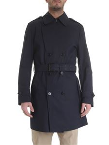 Fay - Blue Fay double-breasted trench coat