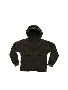 Stone Island Junior - Stone Island dark green jacket