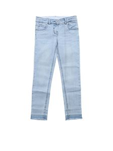 Stella McCartney Kids - Distressed light blue jeans