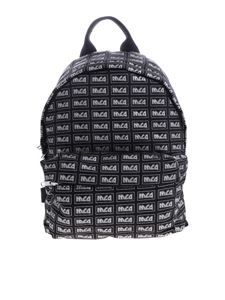 McQ Alexander Mcqueen - McQ backpack in black with silver logo