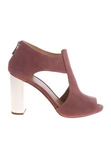 Michael Kors - Paloma sandals in antique pink color leather