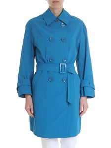 Herno - Light blue Herno trench coat