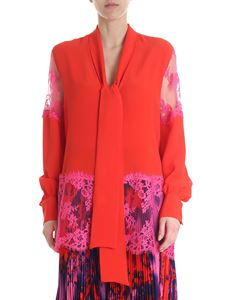 MSGM - Red MSGM blouse with pink lace