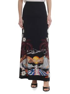 Etro - Black skirt with tropical print