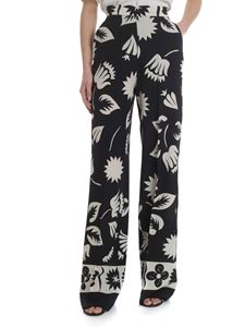 Etro - Ivory and black palazzo trousers