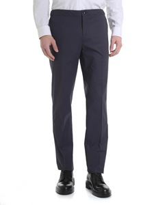 Incotex - Anthracite stretch cotton trousers