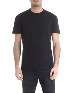 Moncler - Black cotton T-shirt
