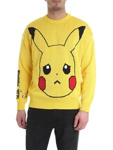GCDS - Yellow sweater with Pikachu embroidery
