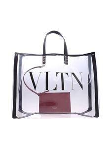 Valentino - Transparent pvc VLTN shopping bag
