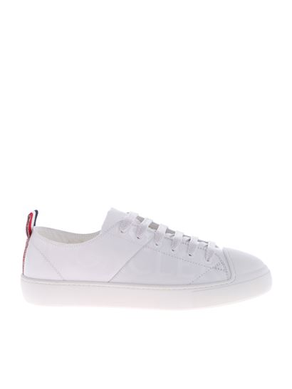 Moncler - White leather Linda sneakers