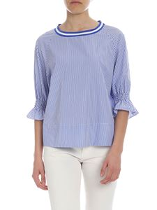 Ballantyne - White and blue striped blouse