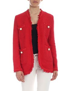 Ermanno by Ermanno Scervino - Red cotton textured jacket