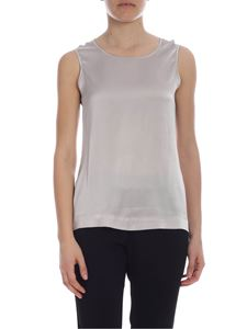 Kangra Cashmere - Kangra silk top in pearl grey
